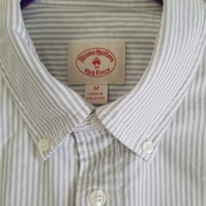 Brooks Brothers Shirts - Brooks Brothers Stripped Oxford Polo Button-Down
